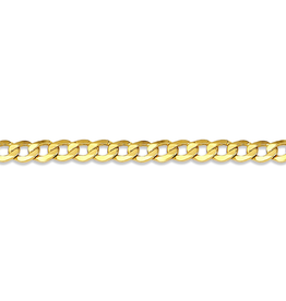 "Curb (3.2mm) 22"" Yellow Gold Chain"