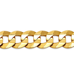 "Curb (7mm) 22"" Yellow Gold Chain"