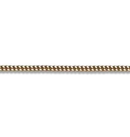 "Curb (2mm) 22"" Yellow Gold Chain"