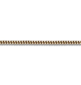 "Curb (2mm) 26"" Yellow Gold Chain"