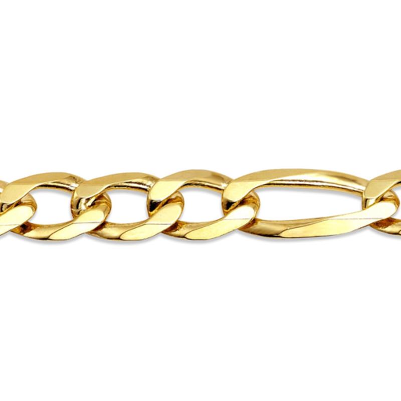 "10K Yellow Gold (6.7mm) Solid Figaro Bracelet 8.5"""