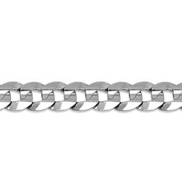 """Curb Bracelet (7mm) Sterling Silver 8.5"""""""