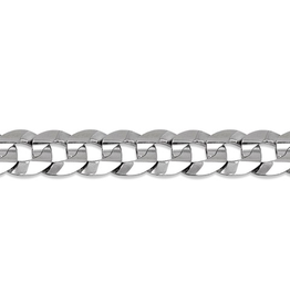 Sterling Silver (7mm) Curb Bracelet 8.5""