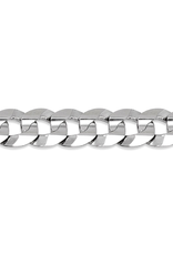 Sterling Silver (11mm) Curb Bracelet 8.5""