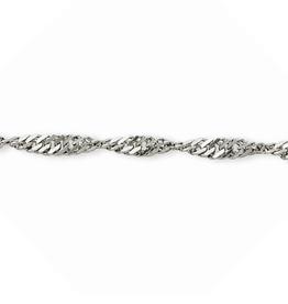 "Singapore Bracelet (2.8mm) Sterling Silver 7.5"""