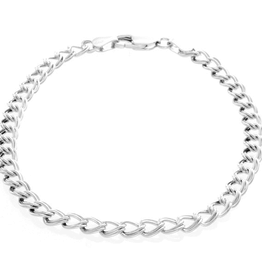 Silver Rhodium Plated Charm Bracelet