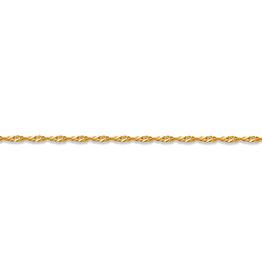 "Yellow Gold Singapore Bracelet (1.5mm - 7"")"