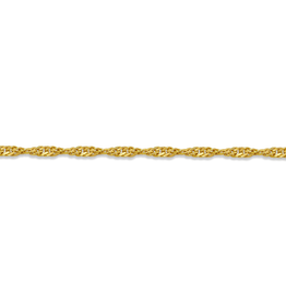 "10K Yellow Gold (1.7mm) Singapore Bracelet 7"""