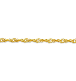 "Yellow Gold Singapore Bracelet (2.3mm - 7.5"")"