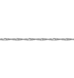 """10K White Gold (1.5mm) Singapore Bracelet 7"""""""