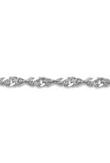 "White Gold Singapore Bracelet(2.2mm - 7.5"")"