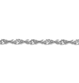 "White Gold Singapore Bracelet(2.2mm - 7.5"")"