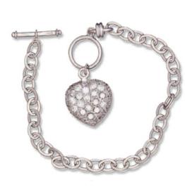 Designer Inspired Sterling Silver CZ Bracelet
