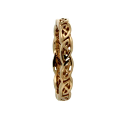 Keith Jack Keith Jack Yellow Gold Eternity Knot Shin Ladies Band
