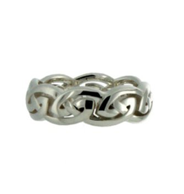 Keith Jack Silver Eternity Knot Band
