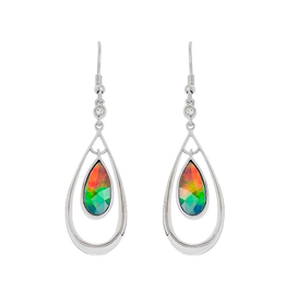 Korite Korite Elenor Ammolite Sterling SIlver Dangle Earrings