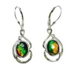 Korite Korite  Arianna Ammolite Sterling Silver Dangle Earrings