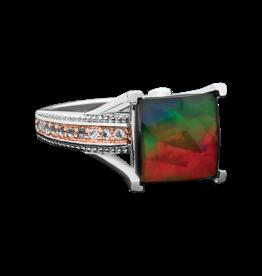 Korite Korite Raye Ammolite Ladies Sterling Silver Topaz Ring