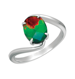 Korite Korite Luna Ammolite Ladies Sterling Silver Ring