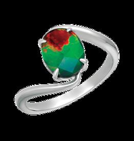 Korite Korite Luna Ammolite Ladies Sterling Silver Ring