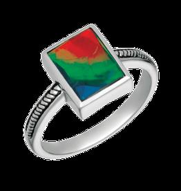 Korite Ammolite Sterling Silver Ring