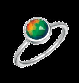 Korite Korite Ammolite Bezel Set Sterling Silver Ring