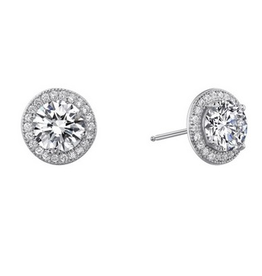 Lafonn Lafonn Round Halo Simulated Diamond Sterling Silver Earrings