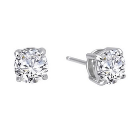 Lafonn Lafonn Sterling Silver Round Studs with Simulated Diamonds