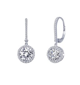 Lafonn Lafonn Round Halo Dangling Earrings in Sterling Silver