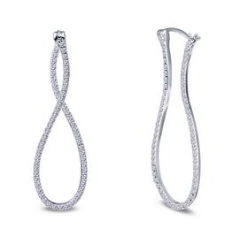 Lafonn Lafonn Sterling Silver Infinity Earrings
