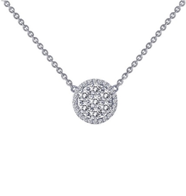 Lafonn Lafonn Halo Round Necklace Set with Simulated Diamonds