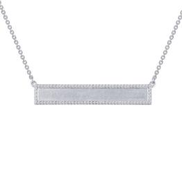 Lafonn Bar Necklace CZ Sterling Silver