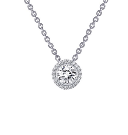 Lafonn Lafonn Halo Bezel with Simulated Diamonds in Sterling Silver