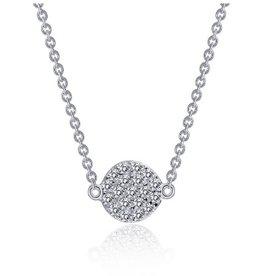 Lafonn Lafonn Sterling Silver Dot Cluster Necklace Set with Simulated Diamonds