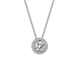 Lafonn Lafonn Halo Bezel Simulated Diamond Necklace