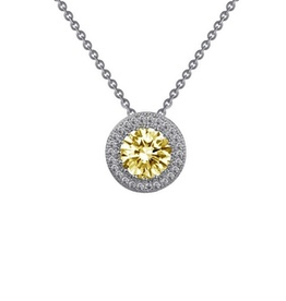 Lafonn Lafonn Canary Halo Simulated Diamond Sterling Silver Necklace