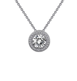Lafonn Lafonn Halo Round Simulated Diamond Necklace