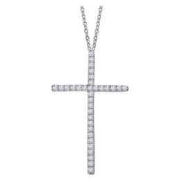 Lafonn Lafonn Cross Simulated Diamond Necklace