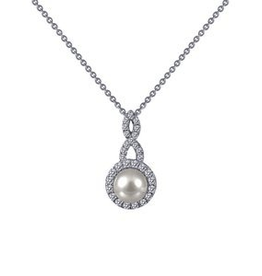 Lafonn Lafonn Silver Halo Fresh Water Cultured Pearl Pendant