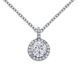 Lafonn Lafonn Halo Round Simulated Diamond Sterling Silver Necklace