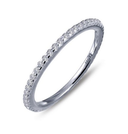 Lafonn Lafonn Eternity Set With Simulated Diamonds In Sterling Silver