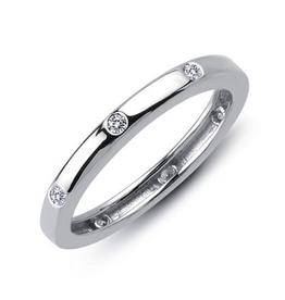 Lafonn Lafonn Eternity Band with Simulated Diamonds in Sterling Silver