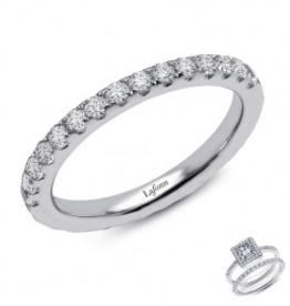 Lafonn Lafonn Band with Simulated Diamonds in Sterling Silver Bonded with Platinum
