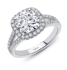 Lafonn Lafonn Radiant Cut Halo Ring Set with Simulated Diamonds in Sterling Silver Ladies Ring