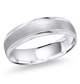 Malo Malo Bevelled White Gold Band (10K)