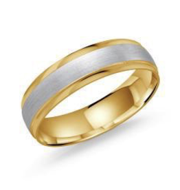 Malo Malo Bevelled Yellow and White Gold Band (5mm)
