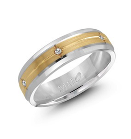 Malo Malo White and Yellow (0.12ct) Mens Diamond Band