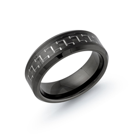 Black Tungsten 8mm Band Carbon Fiber Centre