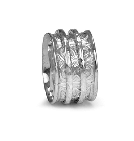 MeditationRings Meditation Ring Faith Sterling Silver