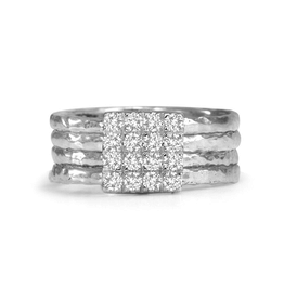 MeditationRings Meditation Rings Light Sterling Silver with CZ